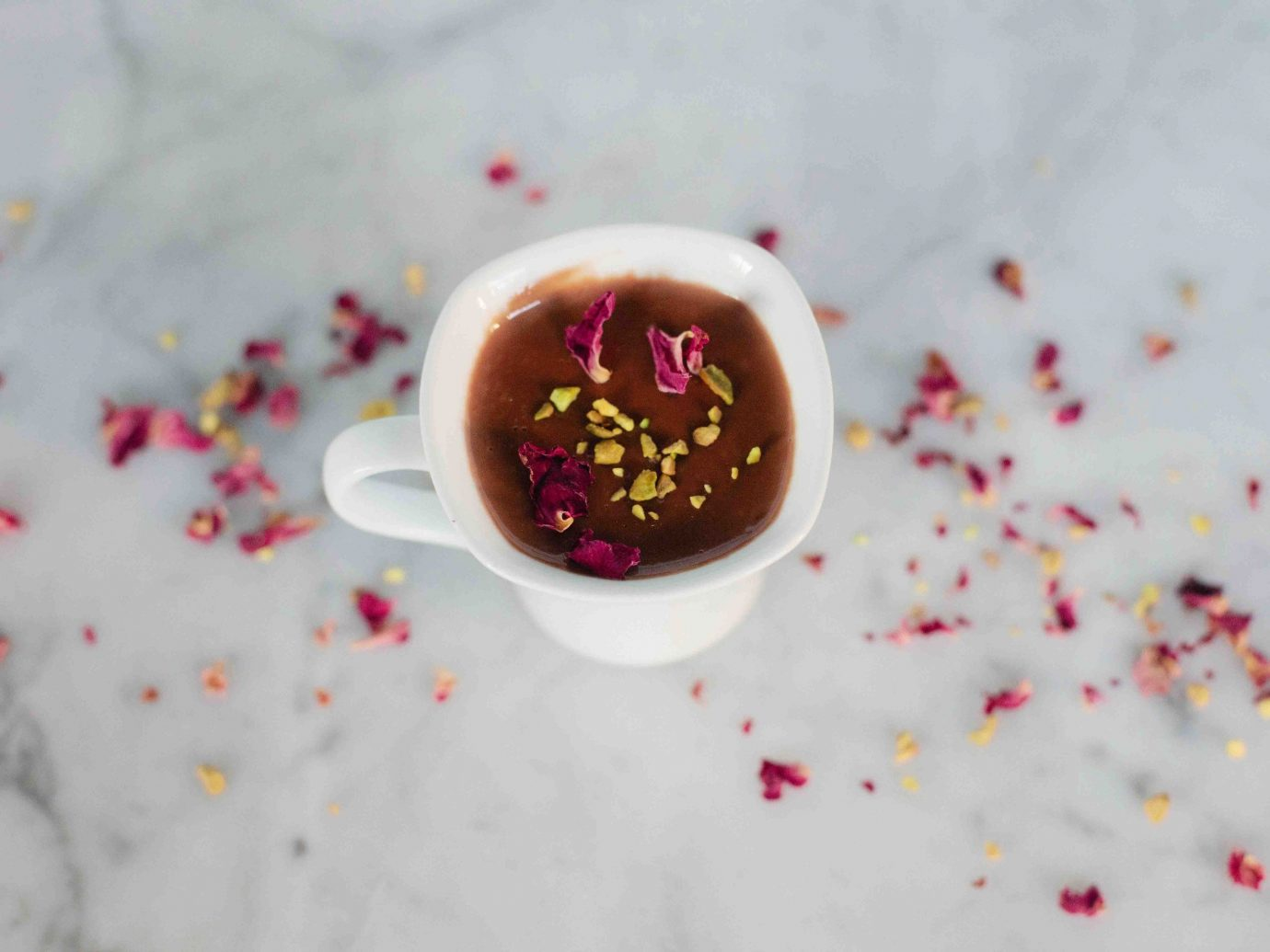 Food + Drink indoor food red pink petal cloth dessert produce sweetness heart flavor flower tableware