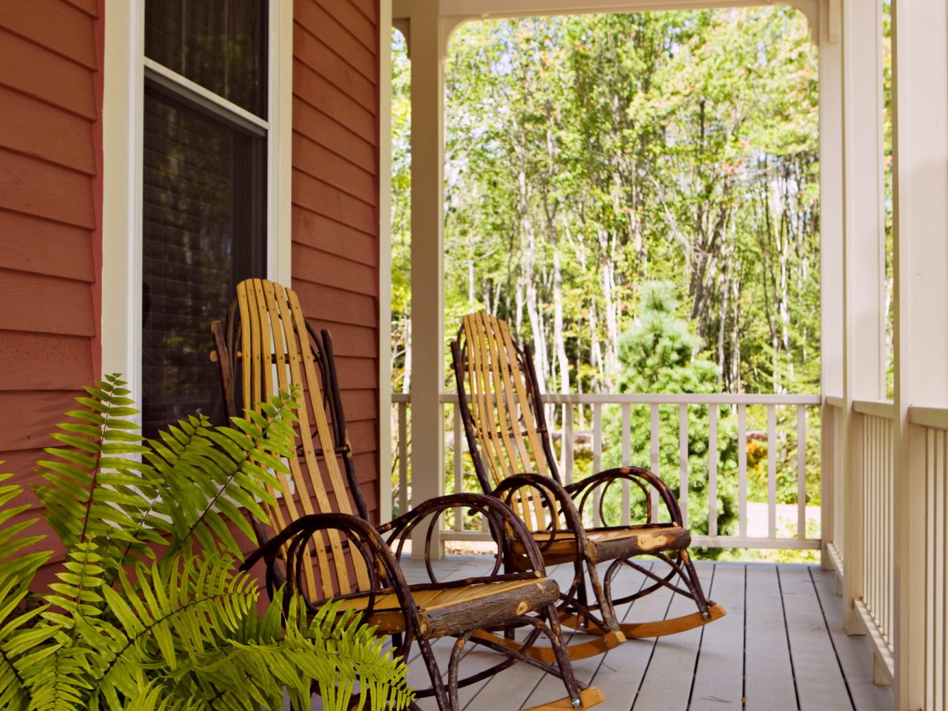 Boutique Country Deck Outdoors Romance Romantic Trip Ideas Weekend Getaways porch window property building room home house estate backyard outdoor structure interior design cottage real estate wood Courtyard yard window covering plant furniture