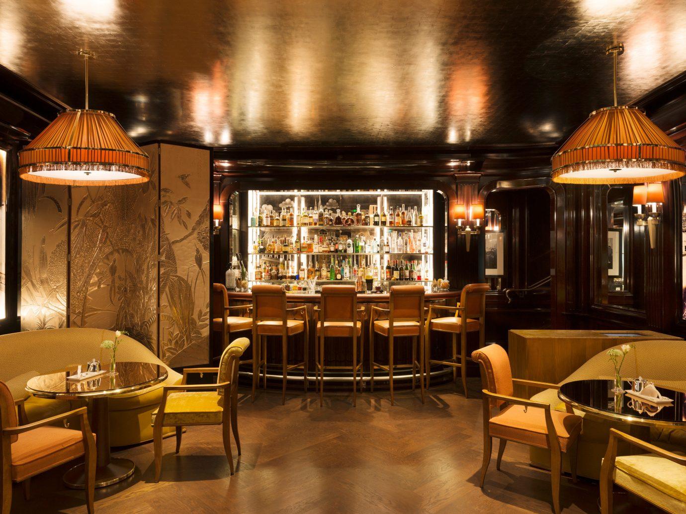Food + Drink Hotels Trip Ideas floor indoor Bar restaurant café interior design estate coffeehouse meal Lobby furniture