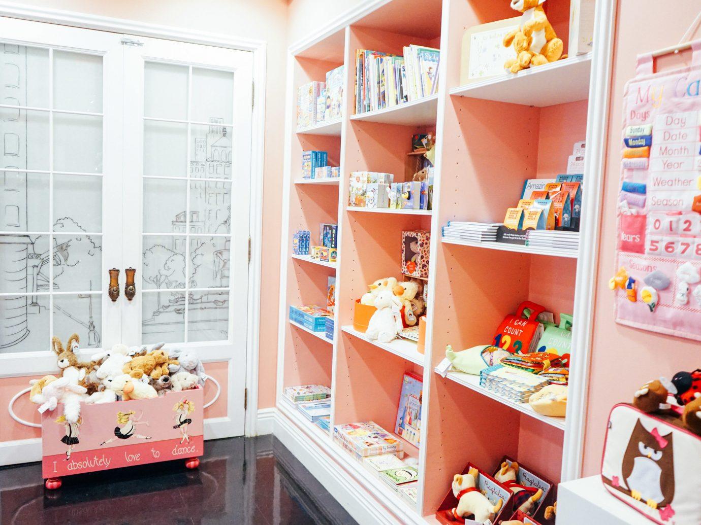 Hotels room indoor shelf toy interior design several