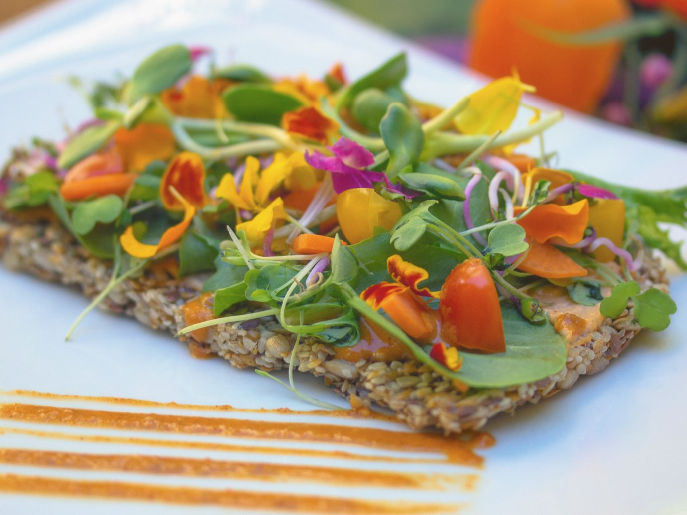 Health + Wellness Meditation Retreats Offbeat Spa Retreats Yoga Retreats food plate dish produce plant vegetable cuisine meal vegetarian food flowering plant fruit meat fresh