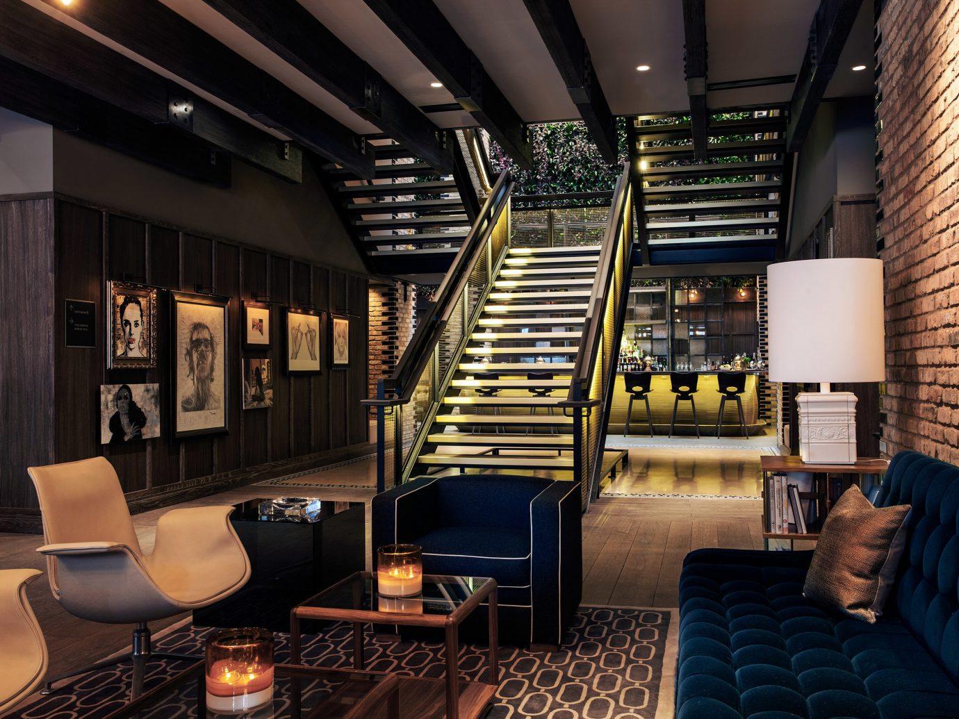 Hip Hotels Living Lounge Luxury Modern indoor chair room building Lobby interior design living room estate Design recreation room furniture