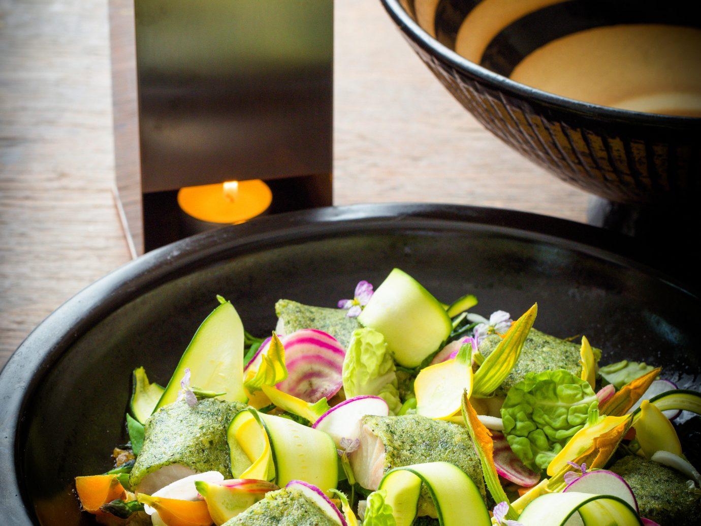 Food + Drink food table dish produce vegetable black cuisine salad bowl