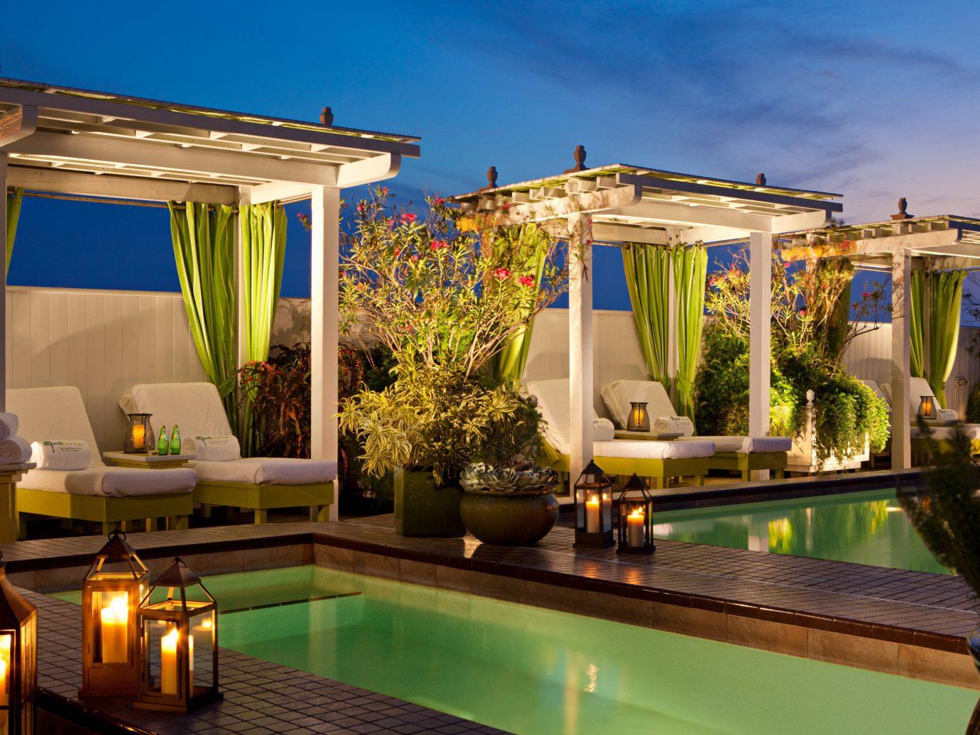 Elegant Florida Hotels Living Lounge Patio Pool Resort Terrace sky swimming pool property estate Villa home backyard interior design real estate mansion condominium outdoor structure