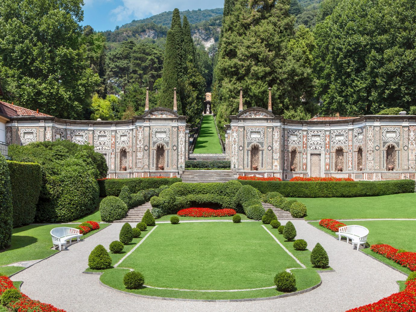 Hotels Luxury Travel tree grass outdoor estate structure stately home château Garden palace lawn mansion park landscape architect Courtyard castle botanical garden monastery manor house old surrounded lush colonnade