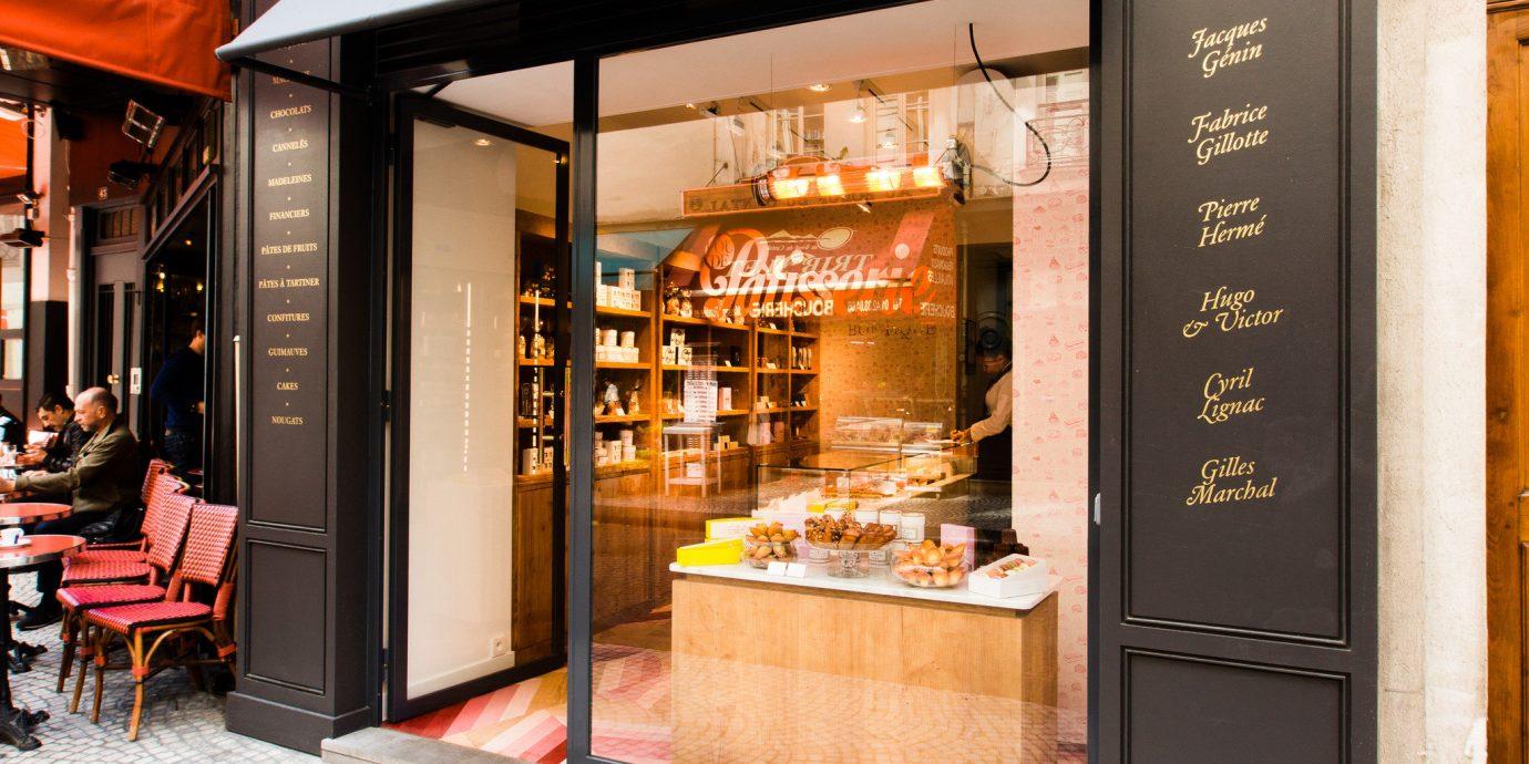Food + Drink France Paris building Boutique facade interior design door