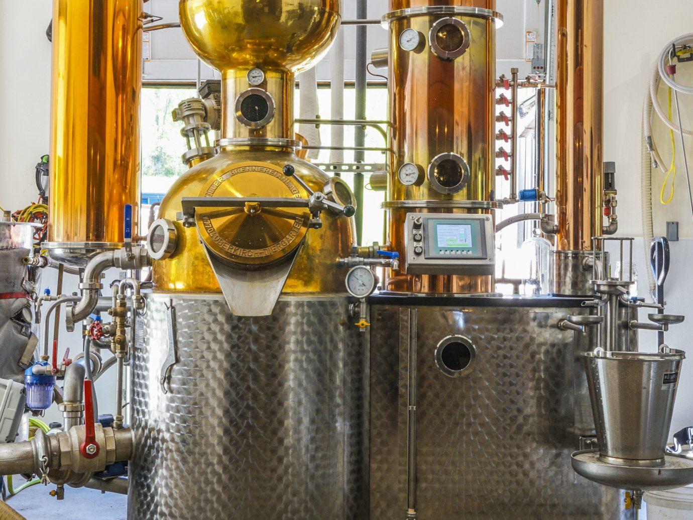 Jetsetter Guides indoor brewery drums steam engine drum machine