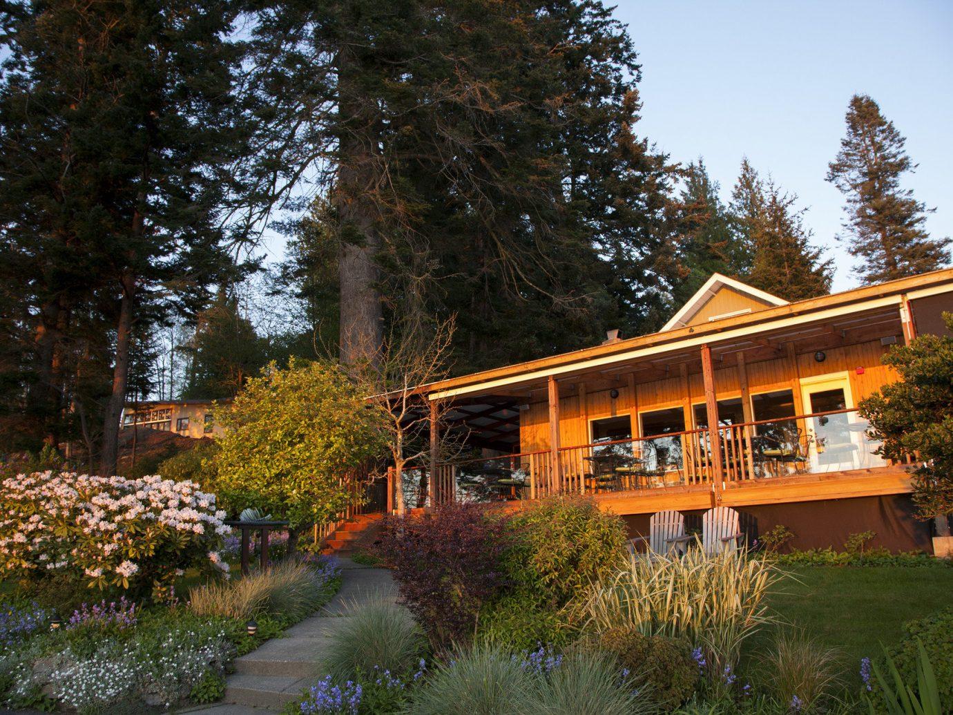 Exterior of The Willows Inn, Washington