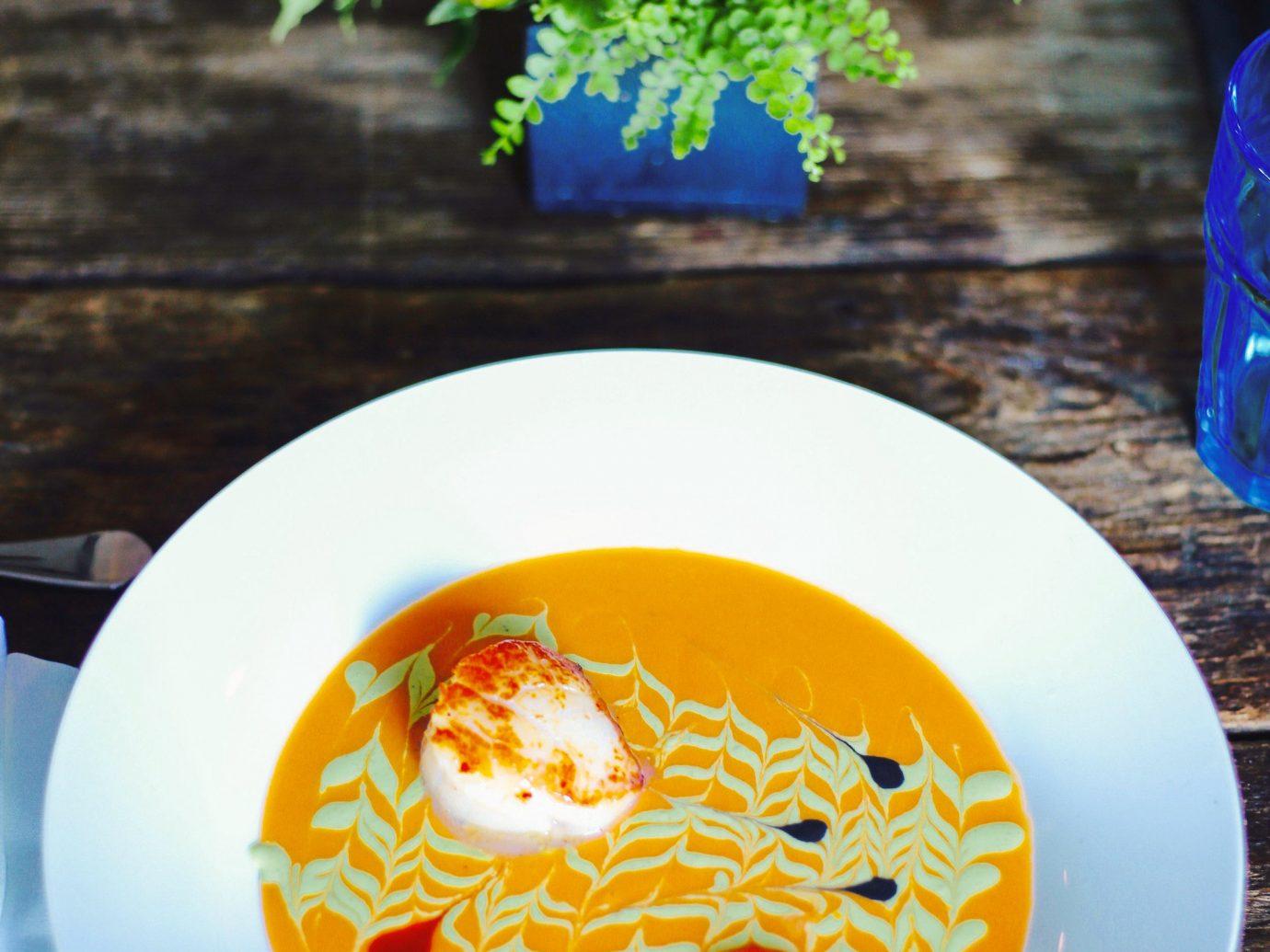 Food + Drink Luxury Travel Trip Ideas Weekend Getaways food plate dish soup vegetarian food cuisine vegetable meal recipe orange