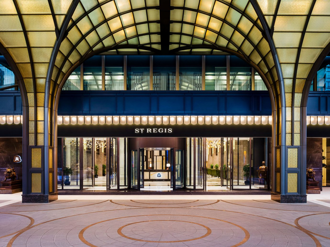 Boutique Hotels Luxury Travel building station Architecture mixed use facade City window shopping mall daylighting arch Lobby symmetry court tall colonnade