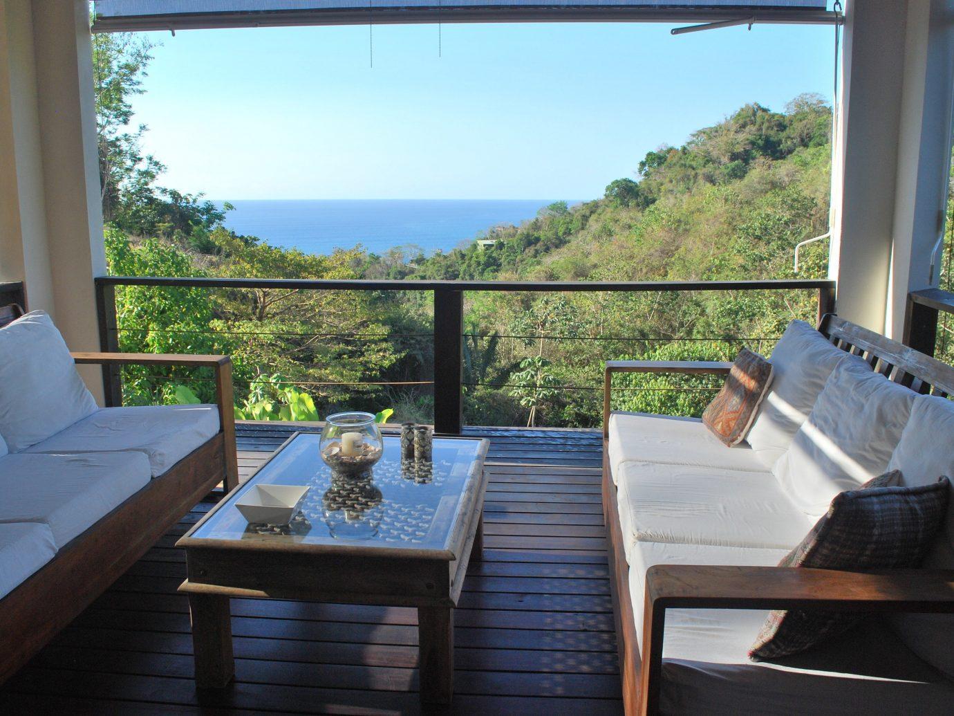 Outdoor breakfast at Casa Frangipani in Costa Rica
