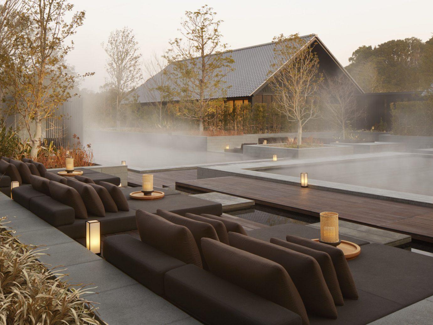 Hotels tree sky outdoor estate interior design Courtyard several