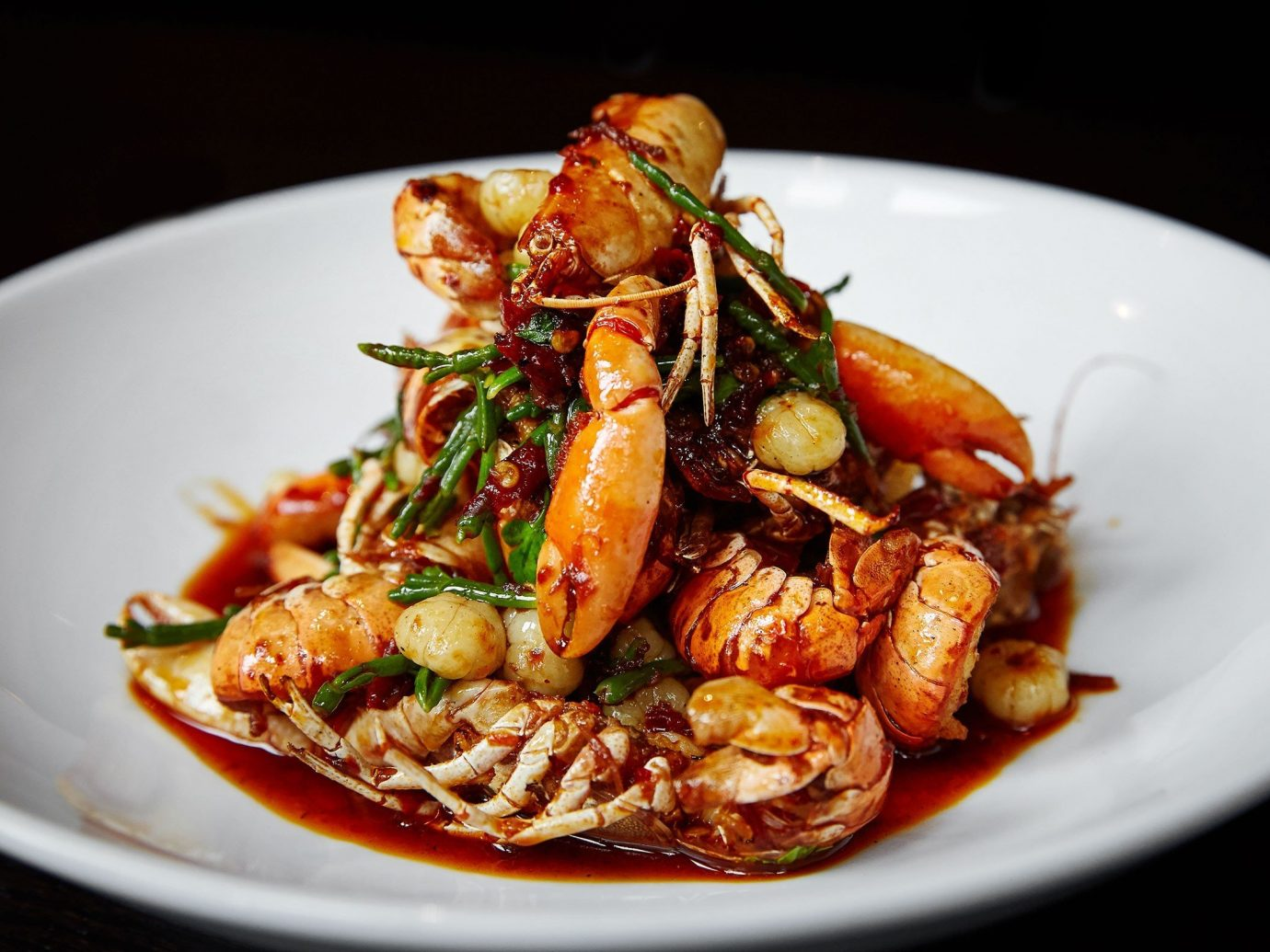 Food + Drink plate food dish arthropod white cuisine vegetable asian food Seafood shrimp thai food produce meal meat chinese food southeast asian food dinner containing prawn