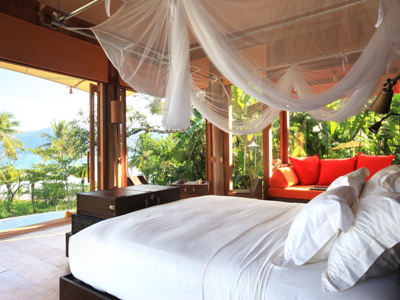 Bedroom view at Soneva Kiri, Koh Kut, Thailand