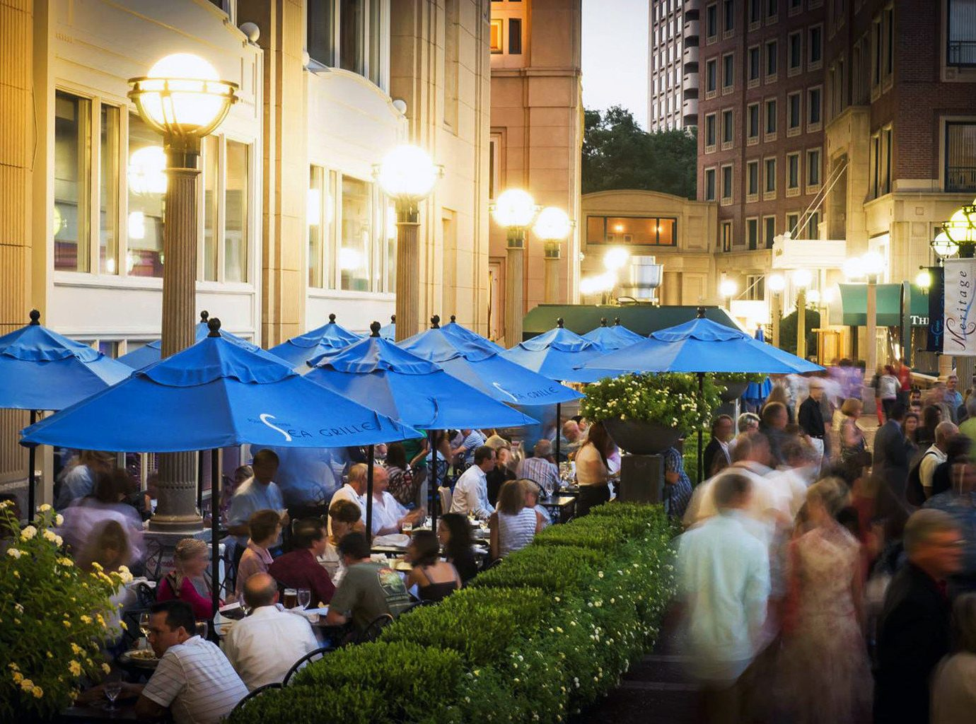 City Dining Drink Eat Hotels Nightlife Waterfront outdoor crowd public space people market