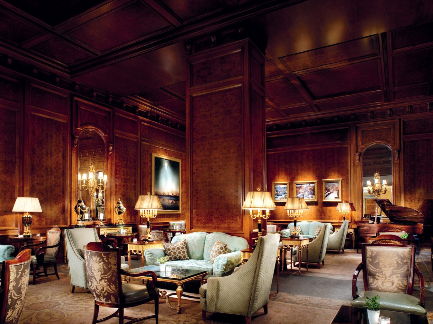 Elegant Fireplace Hotels Living Lounge Luxury indoor room floor ceiling estate furniture interior design lighting home living room mansion Design restaurant area several
