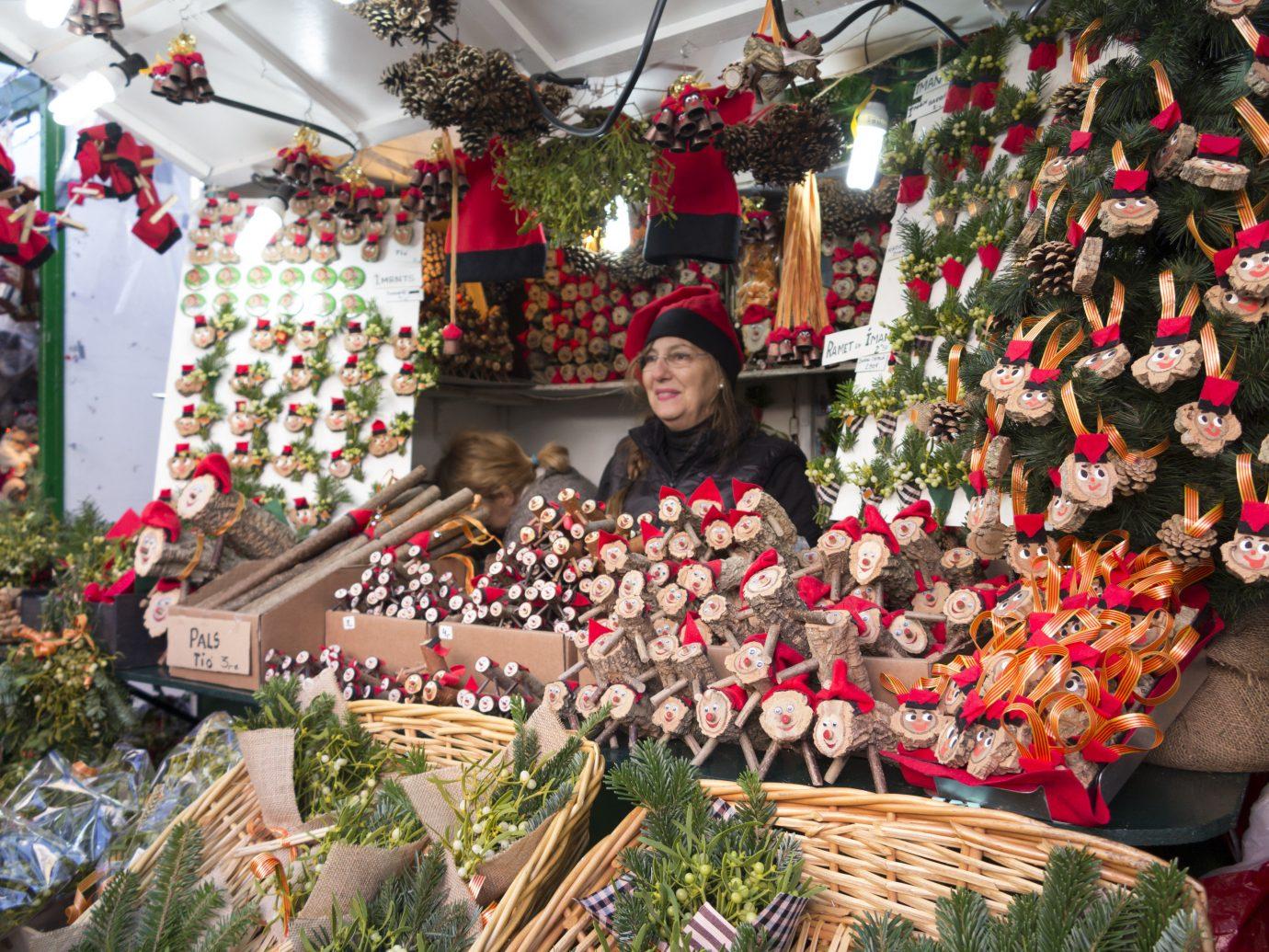 Trip Ideas marketplace public space City Christmas market christmas decoration floristry vendor bazaar Christmas tree flower holiday festival Shop