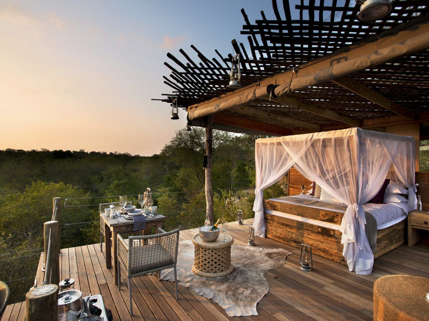 Deck Hotels Living Lounge Scenic views Trip Ideas estate vacation home outdoor structure wood Villa Resort backyard cottage log cabin area furniture