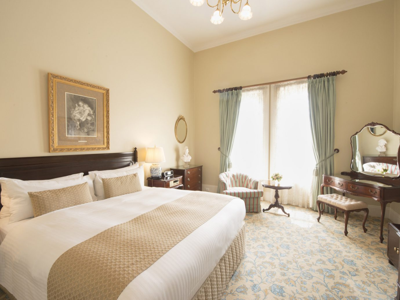 Australia Hotels Melbourne indoor bed wall hotel room floor Bedroom property Suite interior design real estate ceiling estate bed frame window furniture double comfort decorated containing several