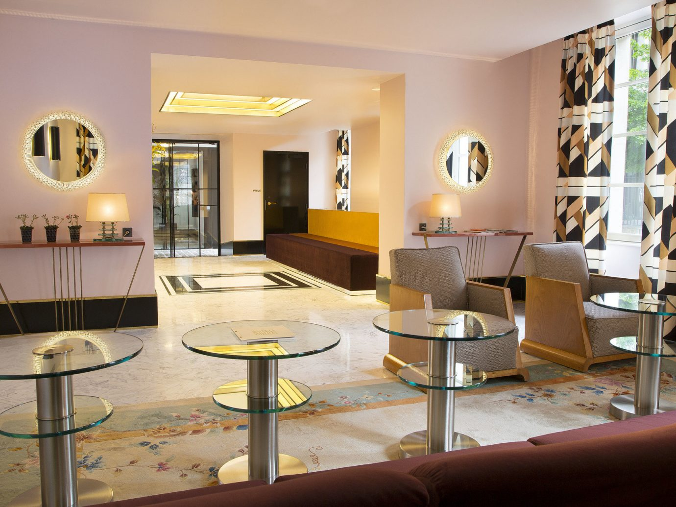 ambient lighting artistic artsy Boutique Boutique Hotels check in chic Hip Hotels interior Lobby Lounge reception desk Style + Design stylish trendy wall indoor ceiling room property dining room living room condominium interior design estate home Design real estate Suite apartment furniture area