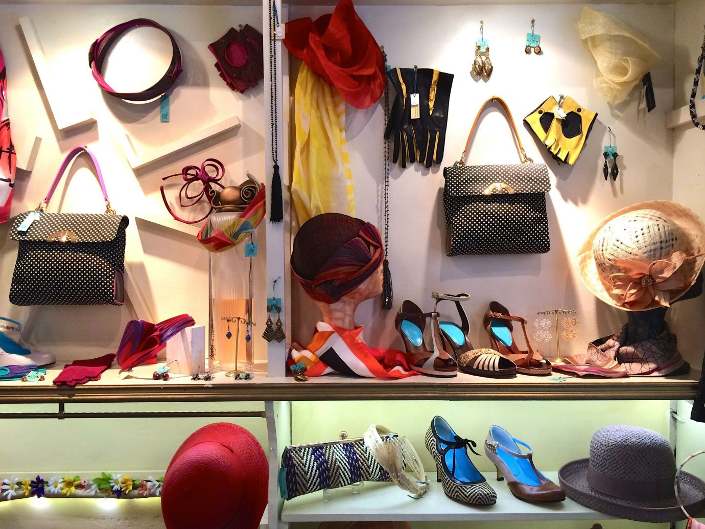 Trip Ideas wall indoor color art different items display window Boutique several