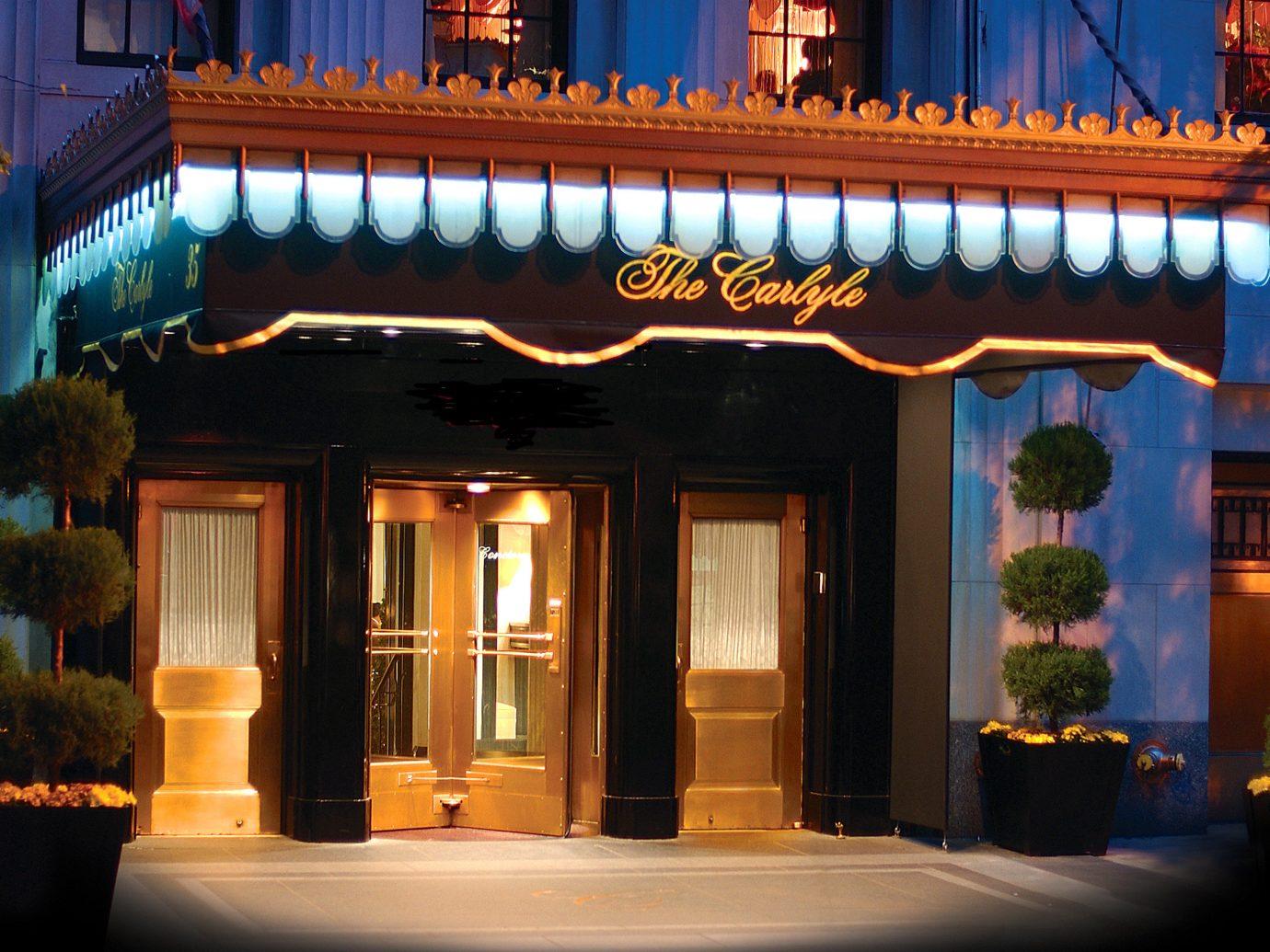 Exterior Hotels Jetsetter Guides Travel Tips Trip Ideas outdoor night house Architecture evening lighting restaurant interior design facade