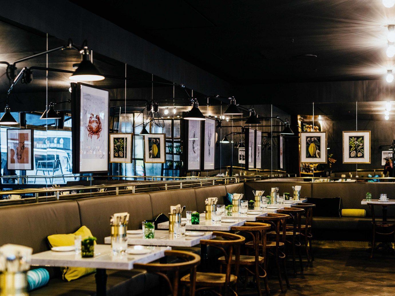Trip Ideas indoor ceiling table floor room restaurant interior design Bar several