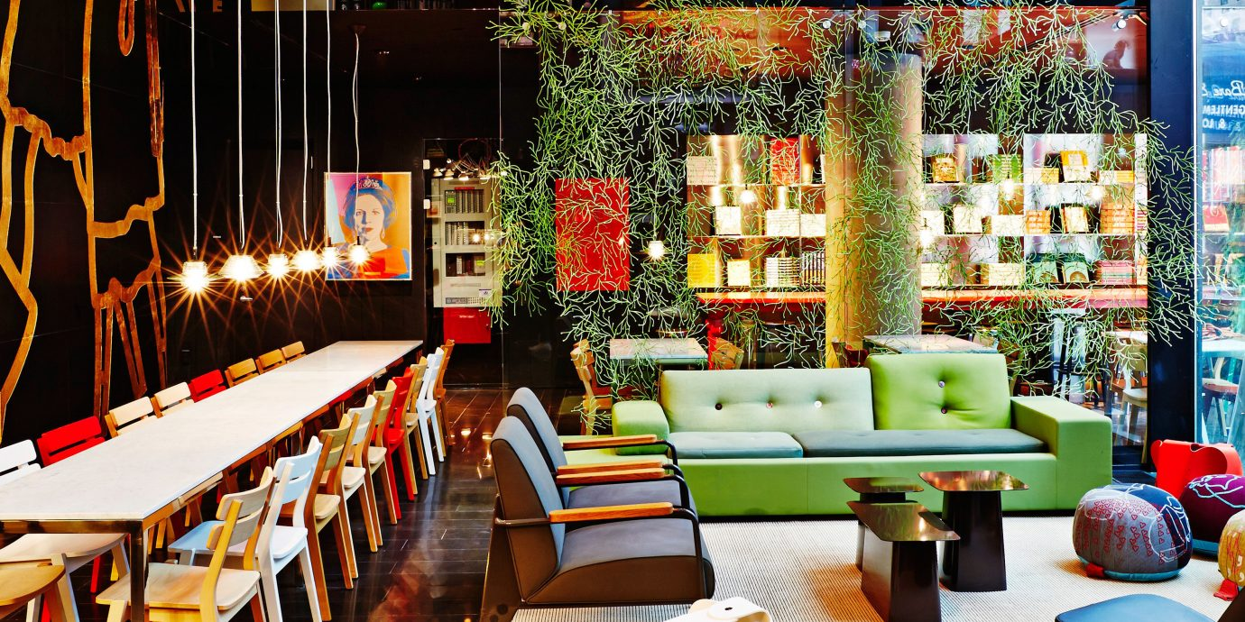 Budget City Design Lobby Lounge Modern table meal restaurant floristry interior design