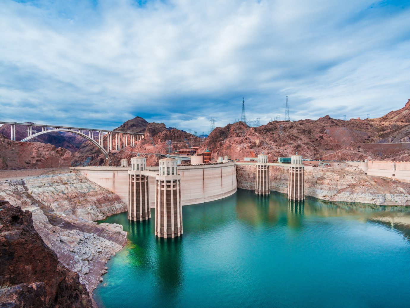 Trip Ideas sky outdoor water mountain landform canyon valley reflection rock vacation River reservoir Nature Lake Sea landscape bridge Harbor area stone surrounded Island several
