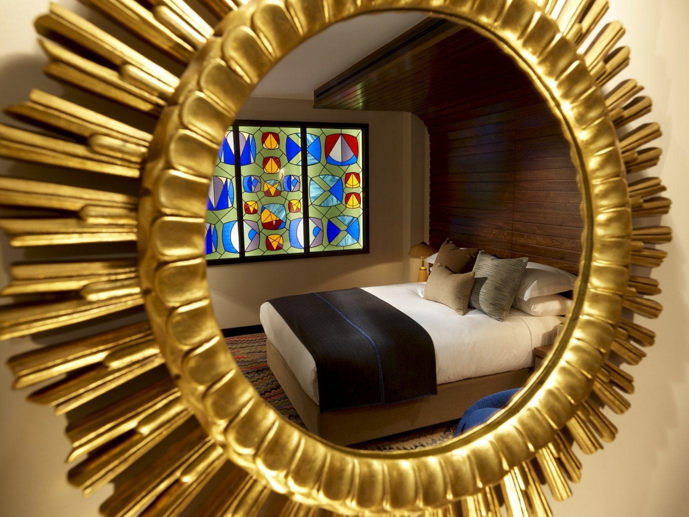 Budget Hotels London color metalware living room interior design modern art circle spiral Design window decorated gear