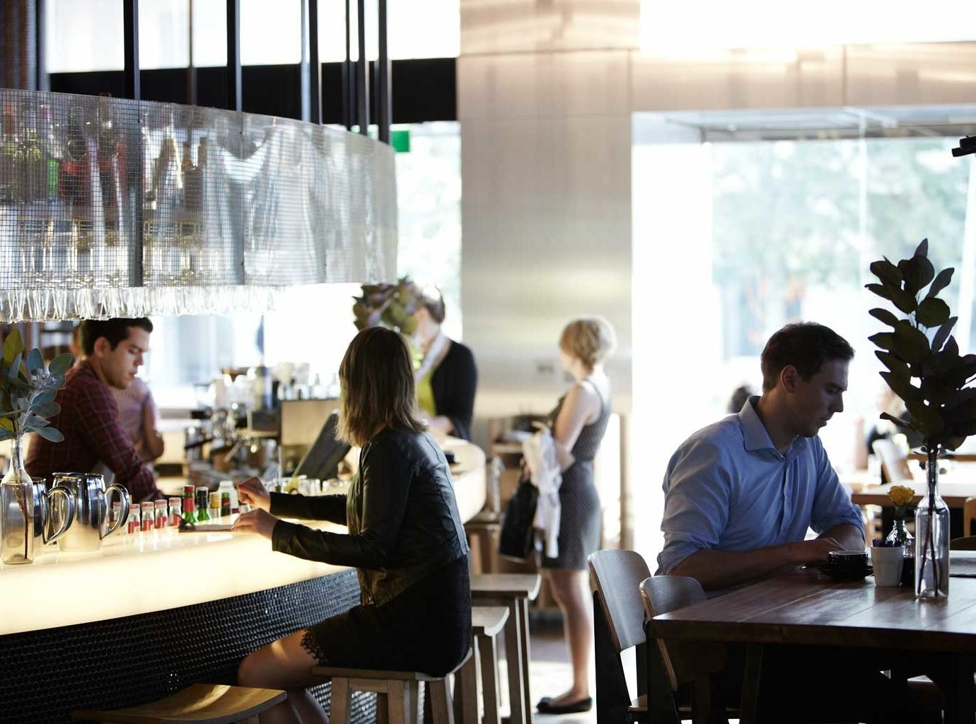 Australia Classic Dining Drink Eat Hotels Melbourne indoor table window person restaurant meal Bar people lunch dining table