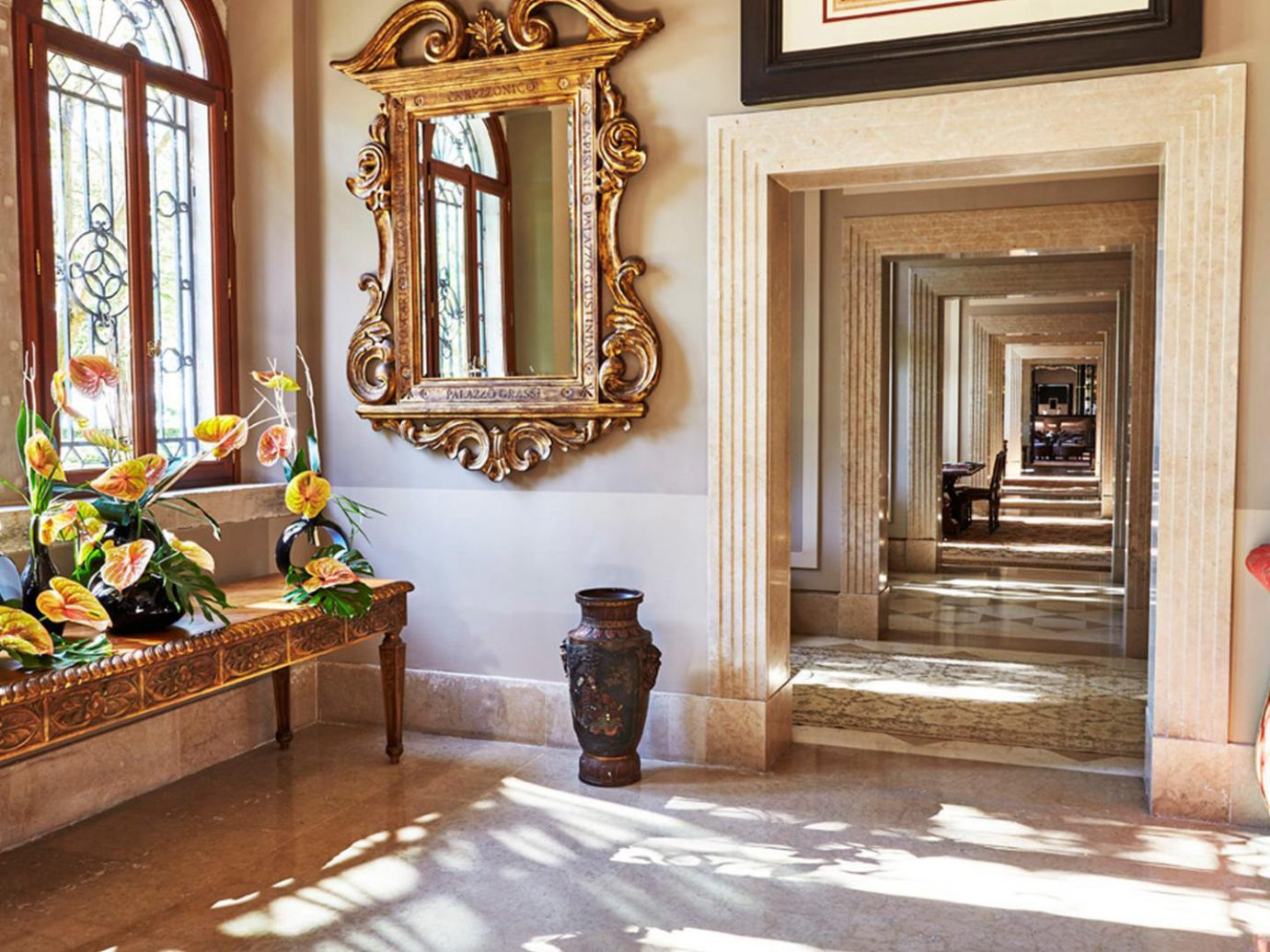 Hotels indoor Living room window property estate home house Lobby living room floor interior design mansion palace wood furniture flooring hall decorated