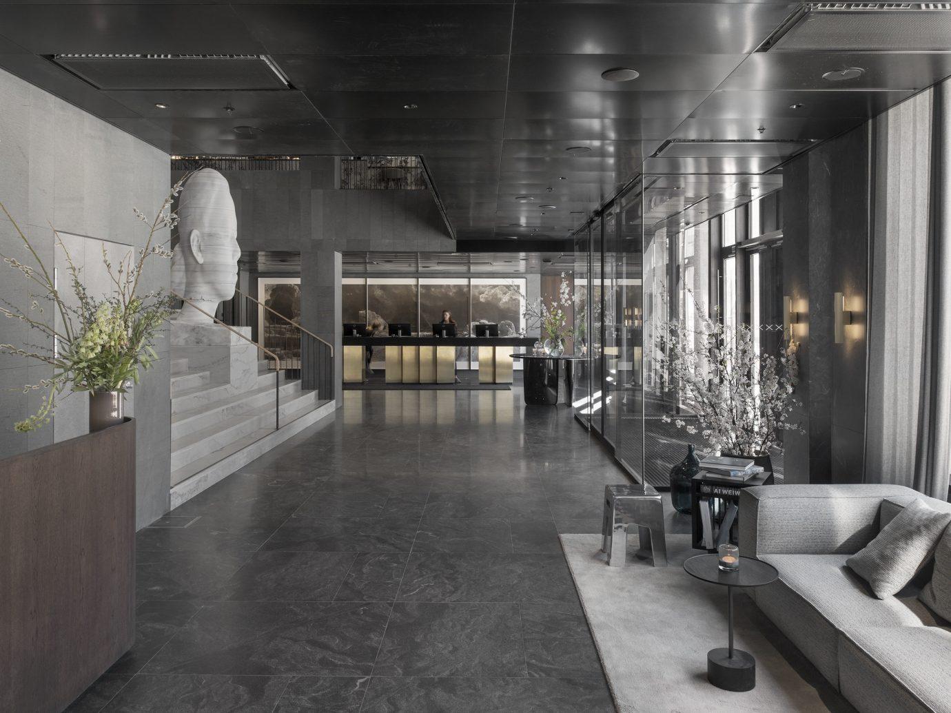 Hotels Stockholm Sweden indoor floor ceiling interior design Lobby room flooring loft furniture