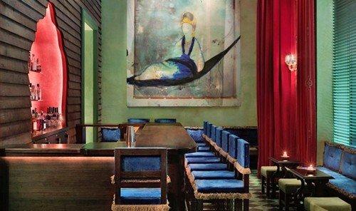 Jetsetter Guides indoor room Living restaurant interior design Bar furniture