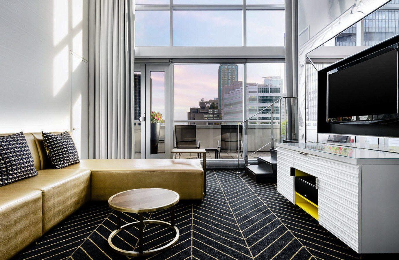 Canada Hotels Montreal Trip Ideas indoor window Living Architecture interior design room living room apartment loft interior designer condominium furniture