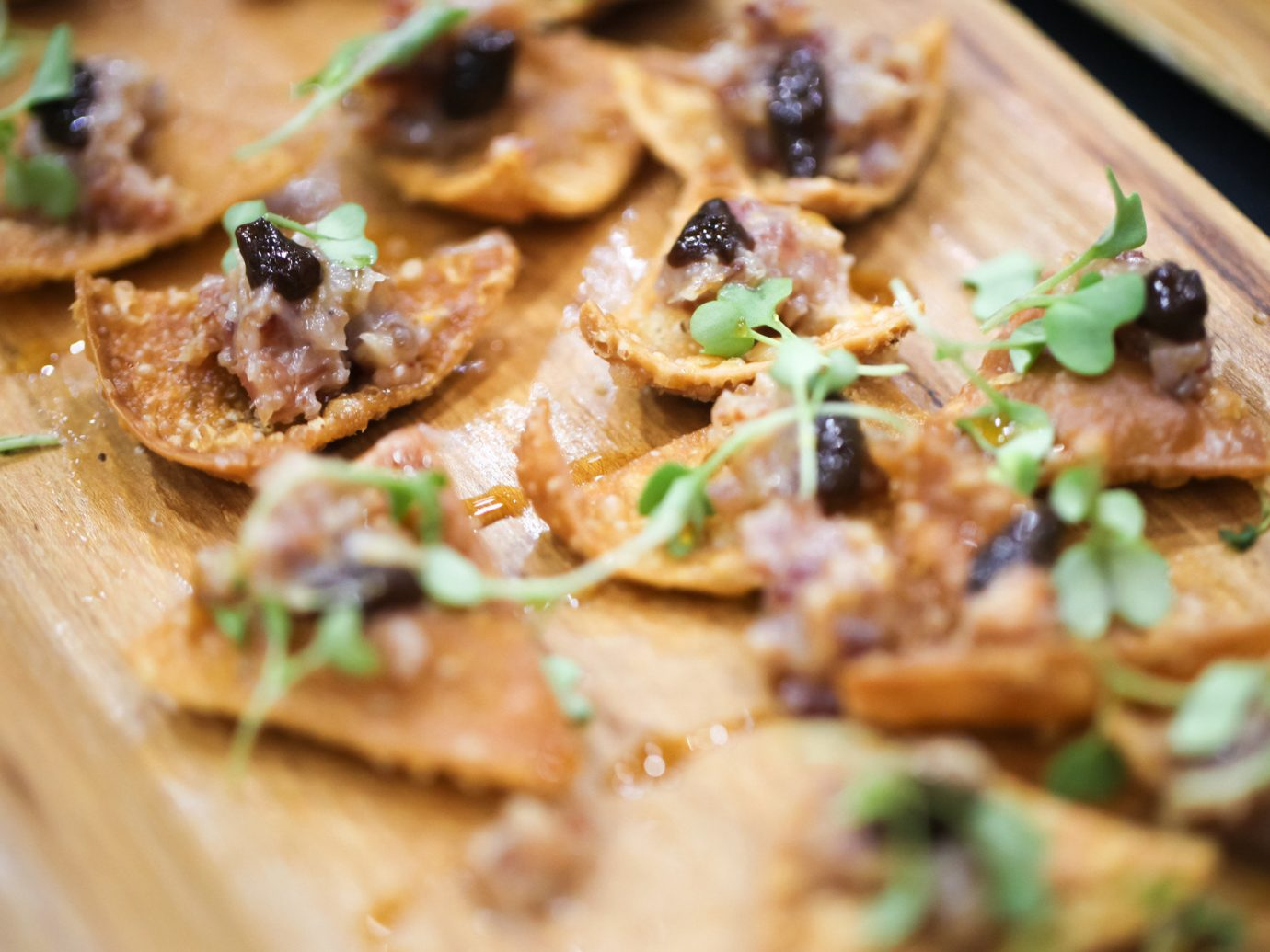 appetizer chips Dining Eat food Food + Drink gourmet Trip Ideas dish wooden cuisine piece slice meal produce meat breakfast vegetable close pizza