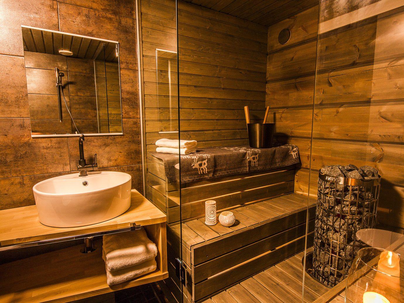 Finland Trip Ideas indoor floor room Architecture interior design bathroom wood sink flooring estate tile tiled