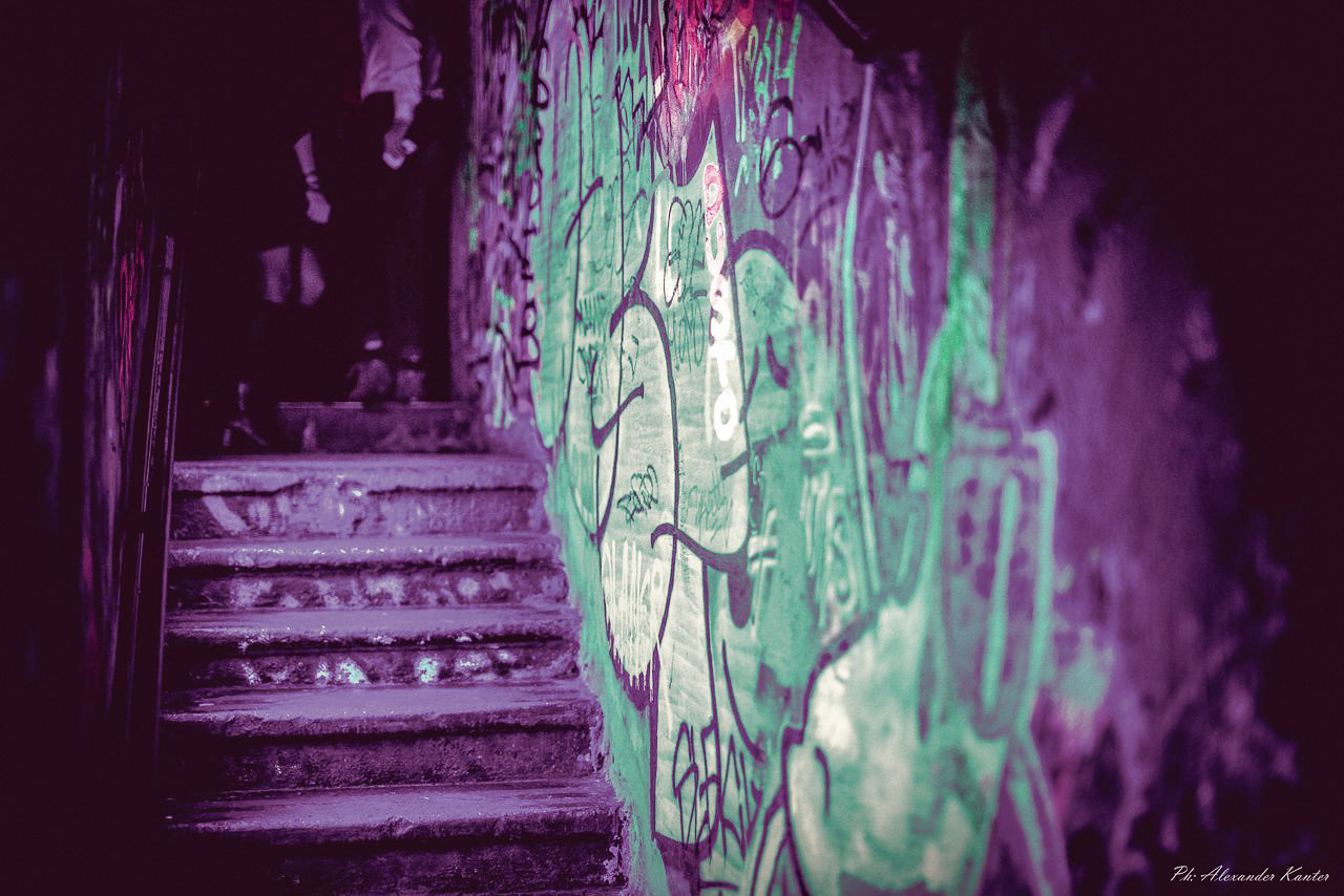 Arts + Culture Hotels Jetsetter Guides purple violet light graffiti darkness art dark