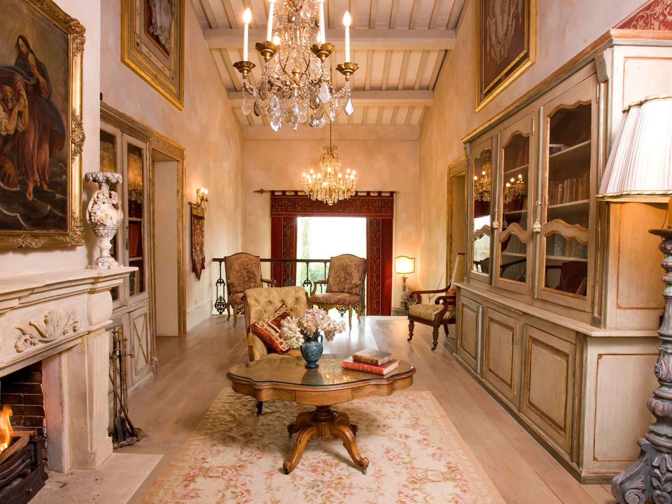 Country Cultural Elegant Historic Hotels Living Lounge Luxury Travel indoor floor room property estate living room mansion home Fireplace interior design Lobby palace decorated furniture stone