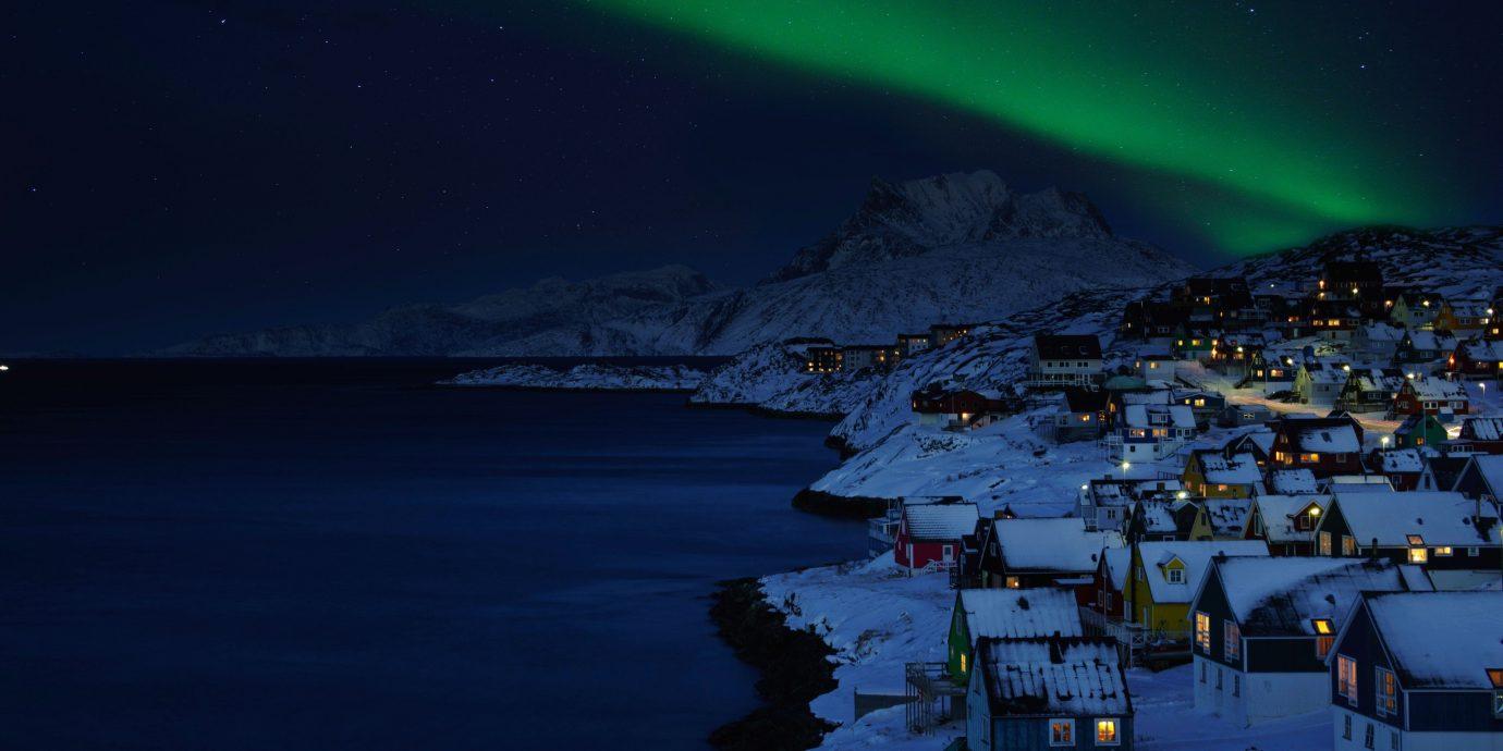 Trip Ideas outdoor aurora night atmosphere weather Nature reflection moonlight dusk snow