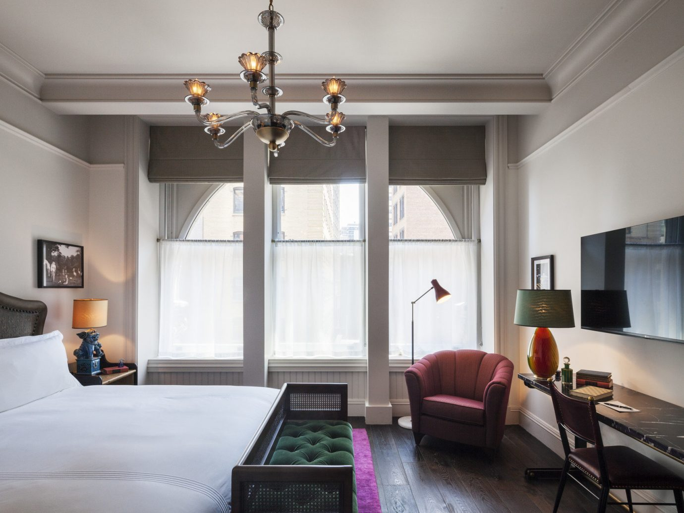 Hotels NYC indoor wall room floor Living property window living room interior design home Bedroom ceiling real estate estate Design furniture daylighting window covering area decorated
