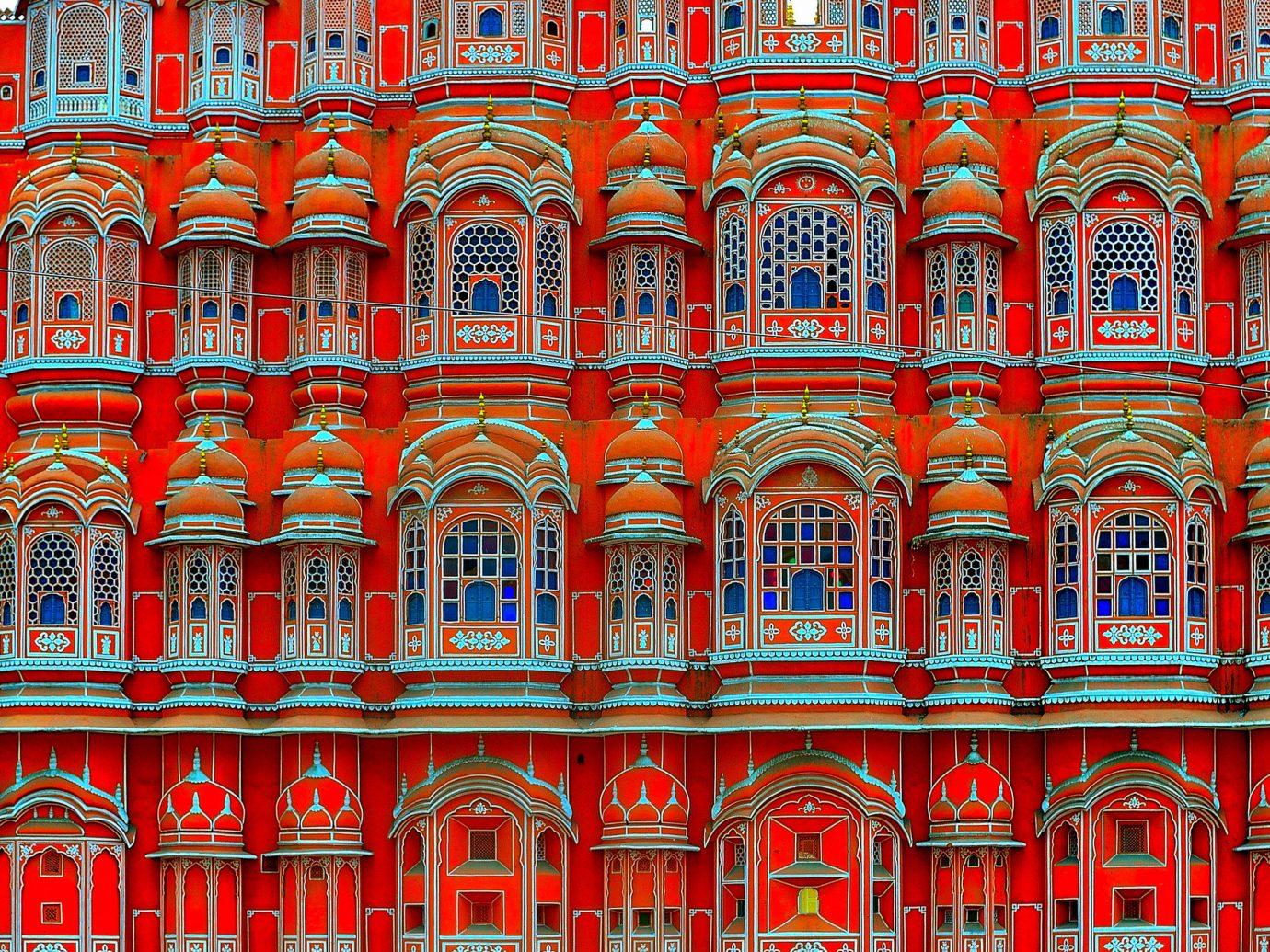 Travel Tips Trip Ideas red facade pattern Design window symmetry metropolis palace