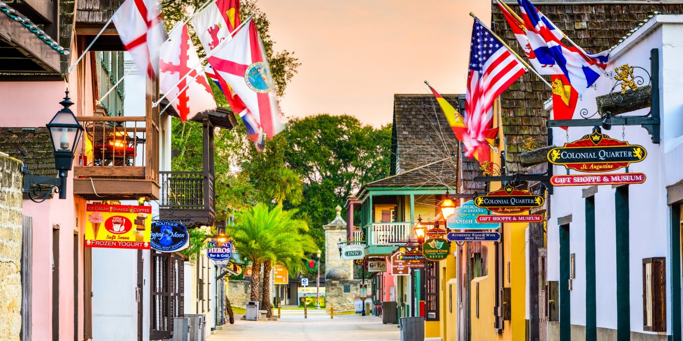 Road Trips Trip Ideas outdoor color Town road colorful neighbourhood street way scene vacation Downtown shopping sidewalk store colored several