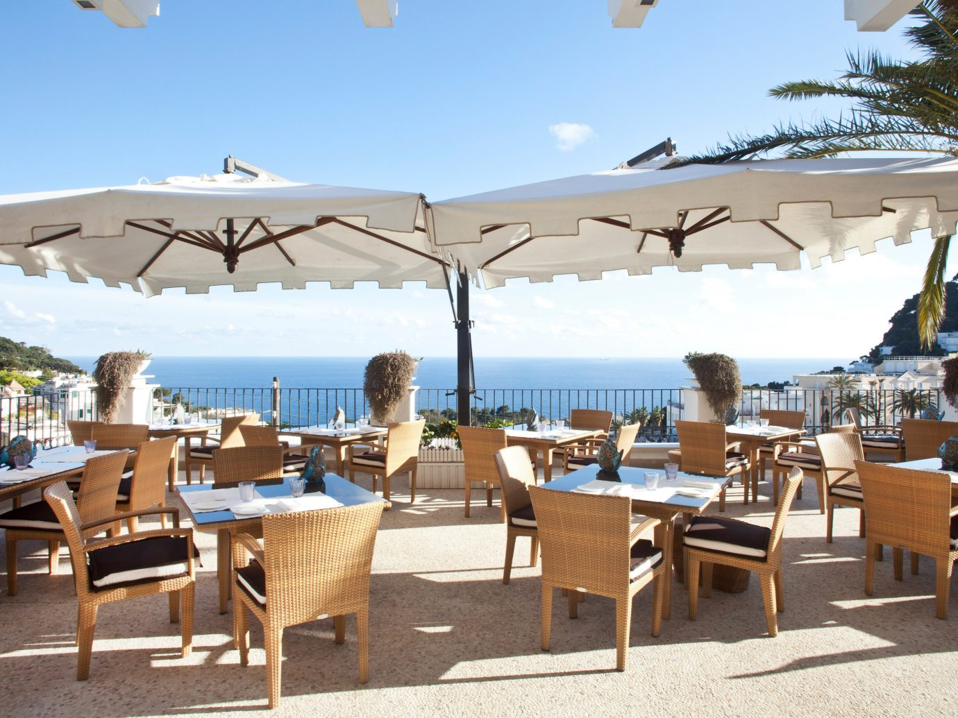 Outdoor dining at Capri Tiberio Palace, Capri