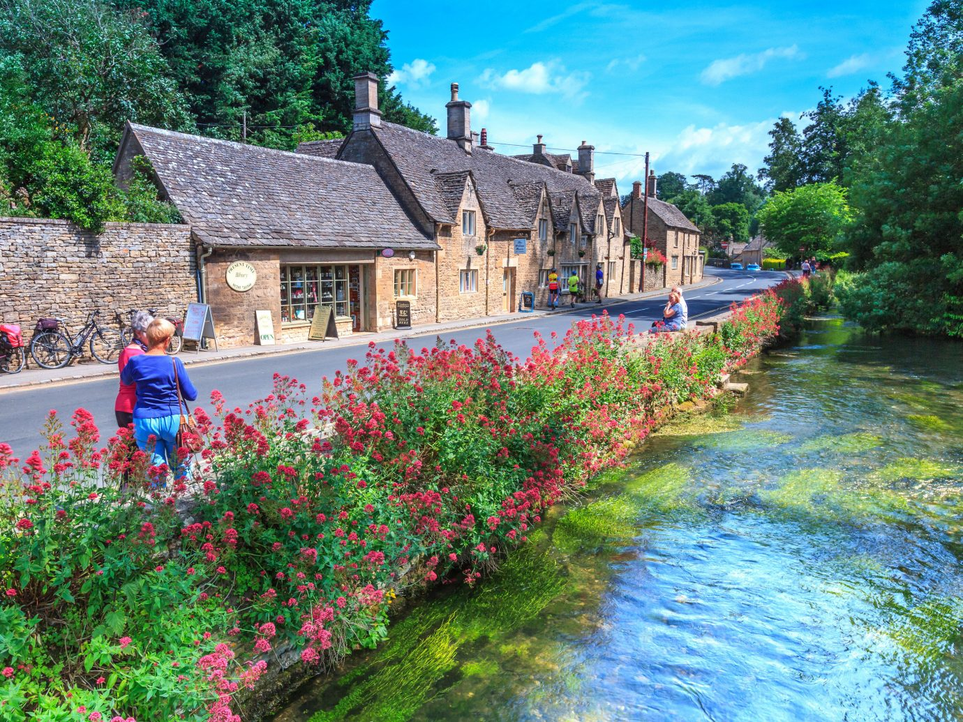 Trip Ideas flower plant waterway Nature water tree River flora reflection watercourse house bank sky Canal landscape tourism Garden spring cottage leisure Village real estate estate wildflower shrub flowering plant City