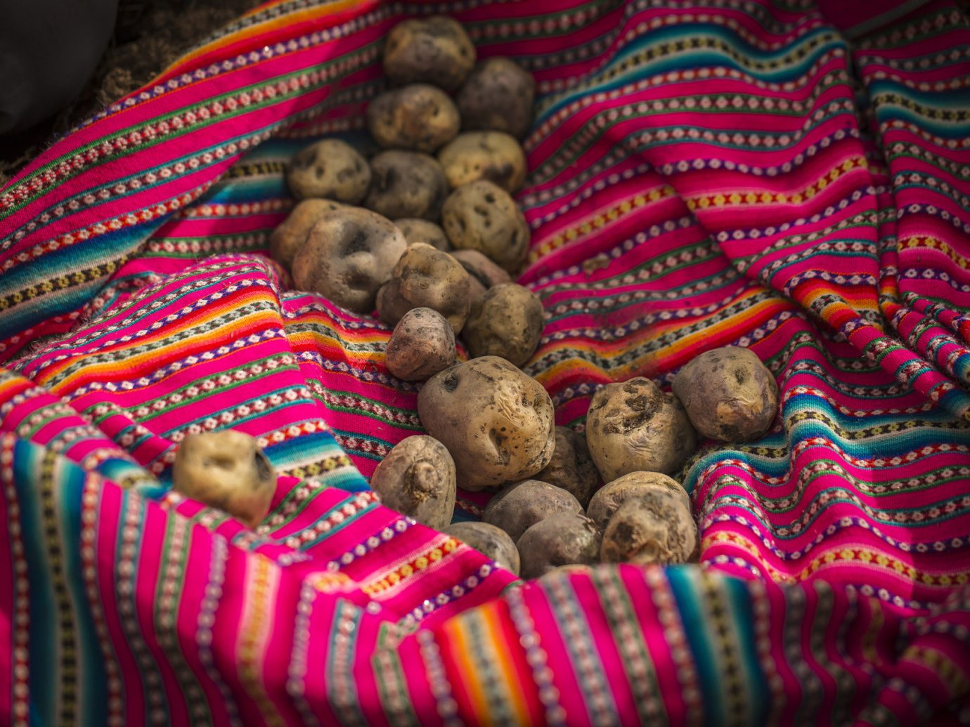 Eat food local eats potatoes textiles Travel Tips vegetables color red indoor different flower bazaar Christmas produce colorful sweetness line colored several