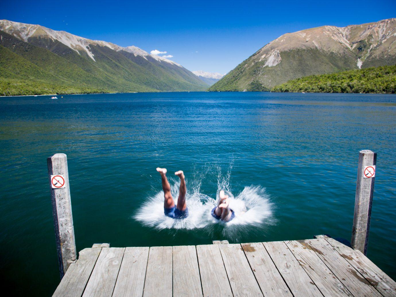 Trip Ideas water mountain sky outdoor Lake Sea vacation fjord wooden bay reflection reservoir mountain range