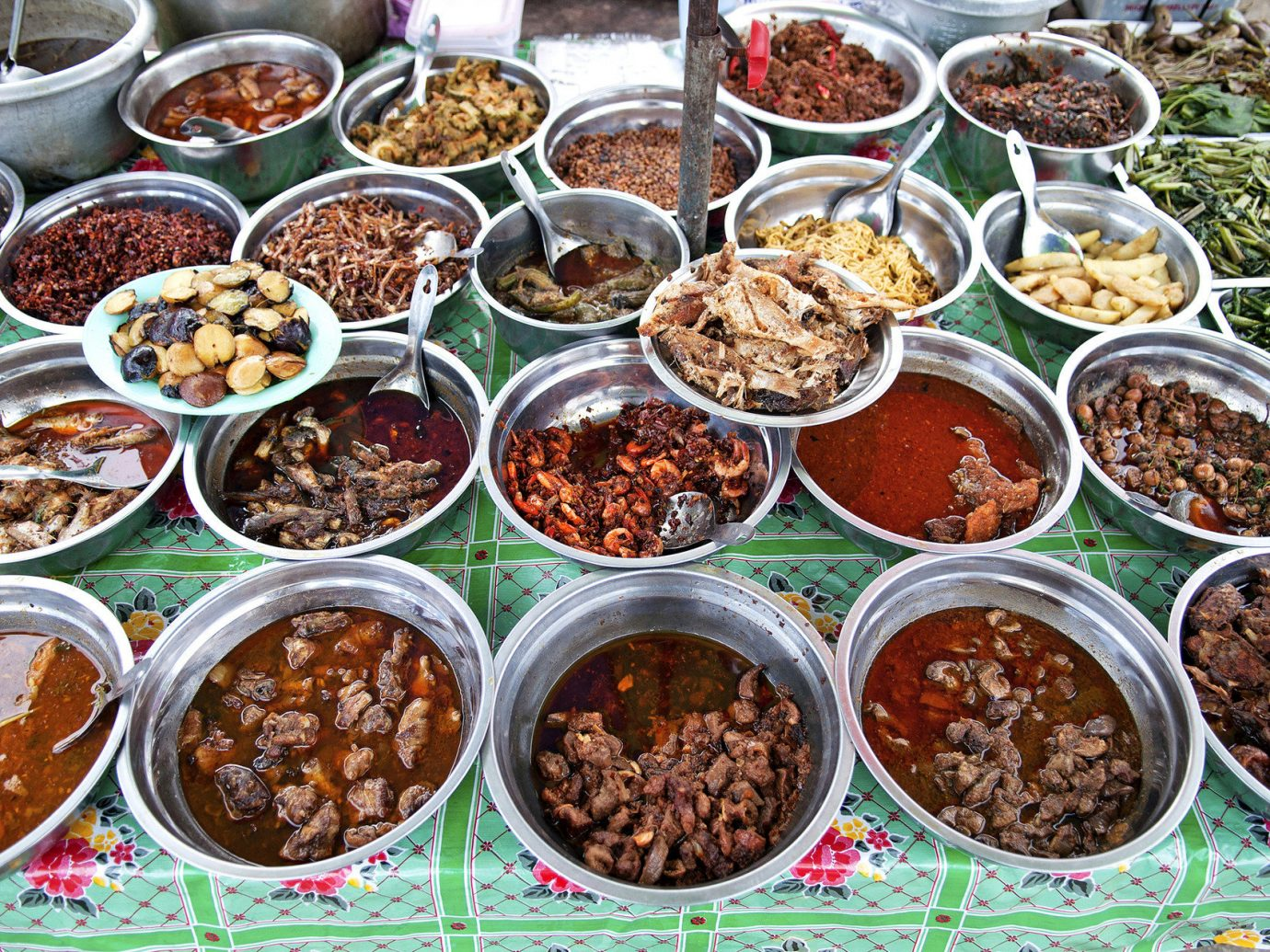 Travel Tips plate table food many different dish outdoor bowl Picnic various several meal wooden cuisine asian food set lots produce wood bunch arranged variety