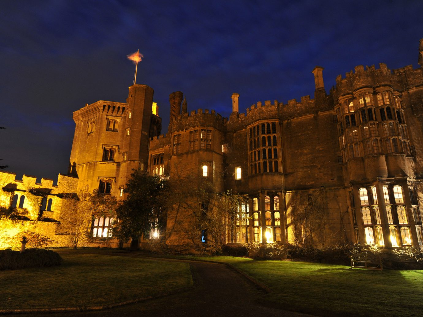 Hotels building outdoor night landmark château evening castle cathedral palace cityscape estate dusk