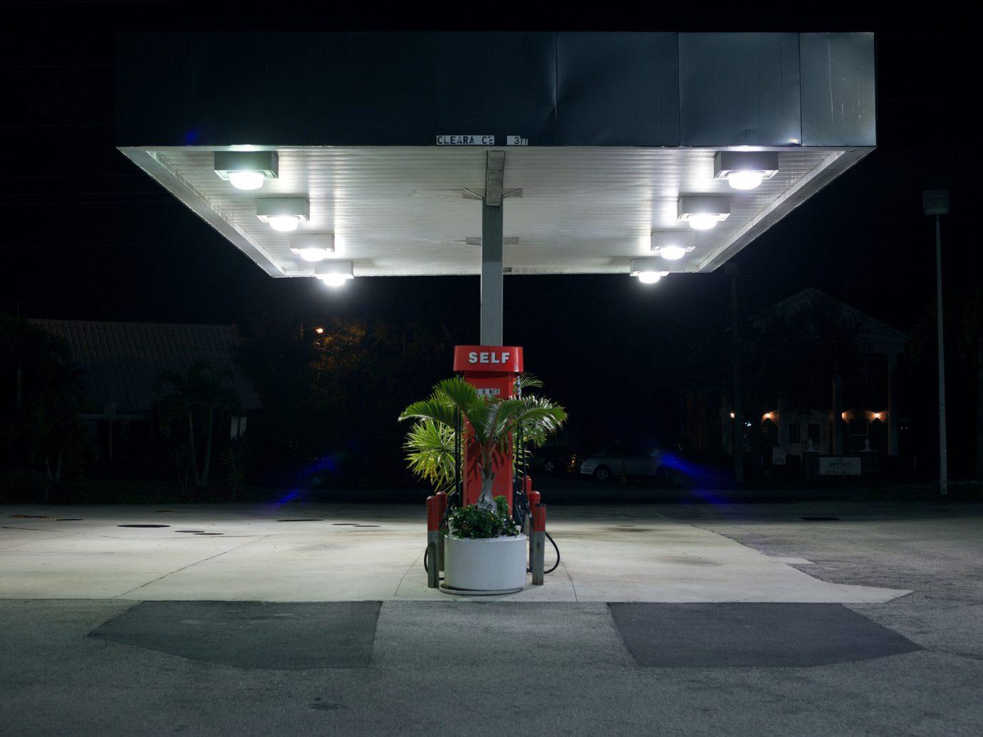 Offbeat outdoor night light darkness lighting display device light fixture screenshot shape way Design street light